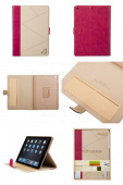 Чехол (книжка) для iPad Air RICH BOSS Executive Case (бежевый / розовый)